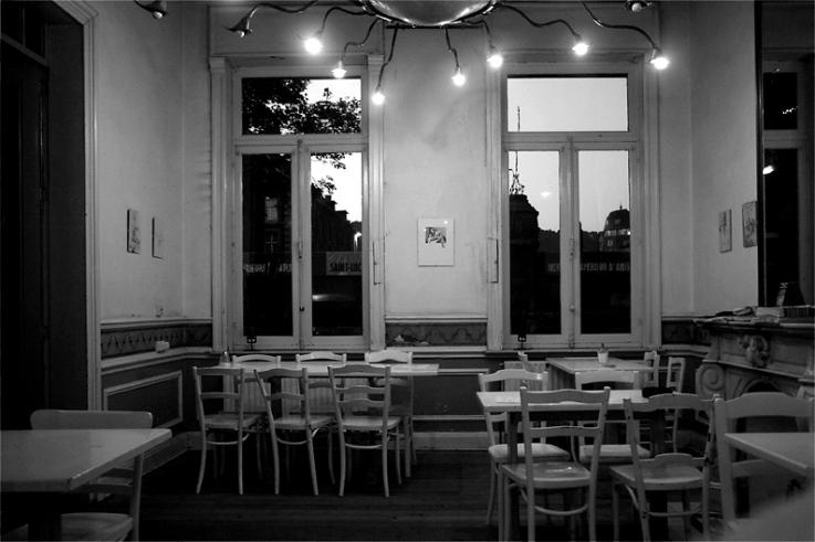 solitude, vide, café, restaurant, salle vide,