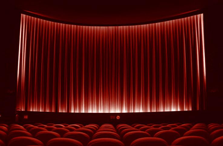 photo cineéma le parc, liège, belgique, écran, rideau rouge, photo dominique houcmant, goldo graphisme