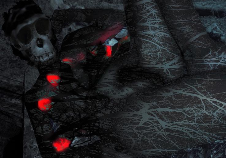 la petite mort, corps de femme à tête de mort, art, © photo dominique houcmant