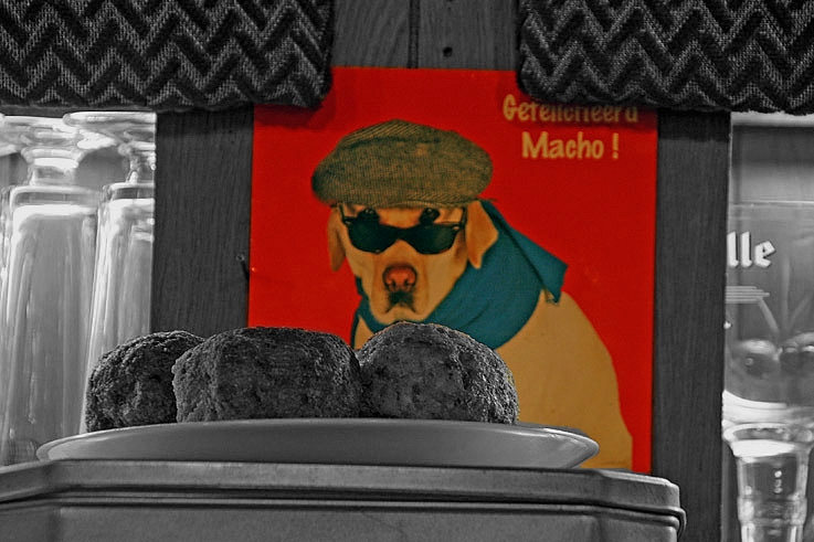 boulet froid, boulettes de viande, café, bistro, photo dominique houcmant, goldo graphisme