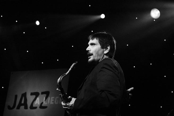 Steve Grossman, live, music, tenor saxophone, concert, Jazz à Liège, 2009, foto, photo dominique houcmant, goldo graphisme