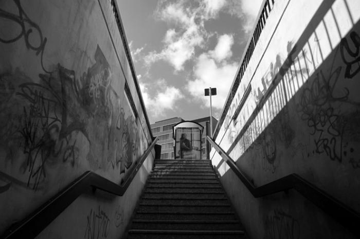 passage Aldringen Luxembourg, parking centre, place Emile Hamilius, souterrain, © photo dominique houcmant