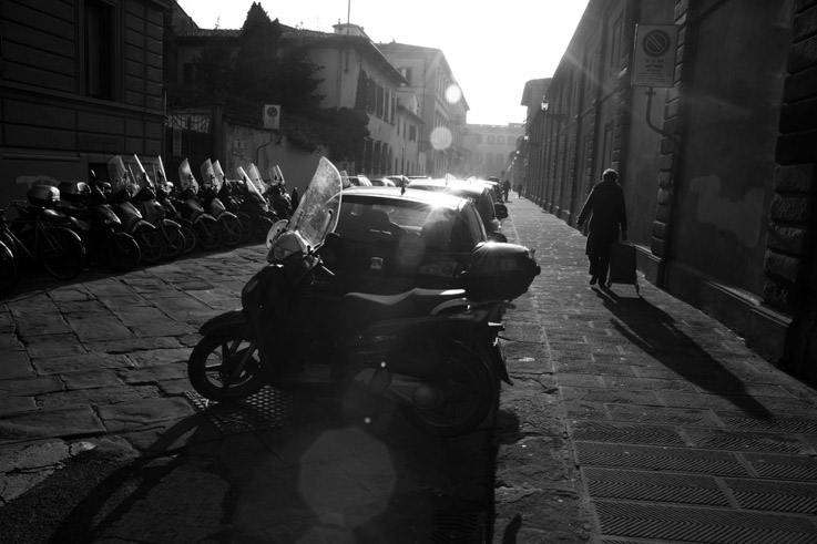 sole d'inverno, via Pier Antonio Micheli, soleil d'hiver, winter sun, Italia, Florence, Italie, Italy, © photo dominique houcmant