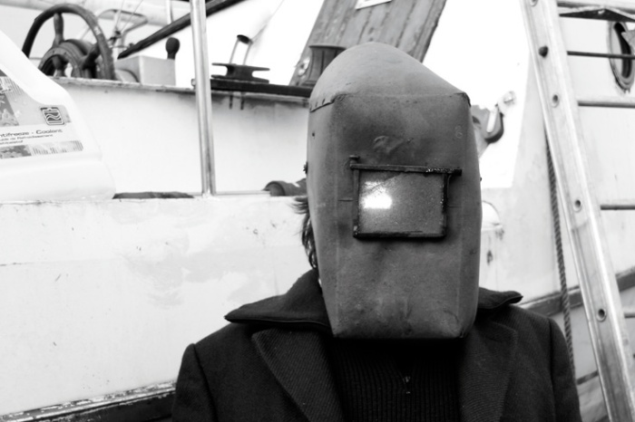 scaphandrier, casque de soudeur, © photo dominique houcmant