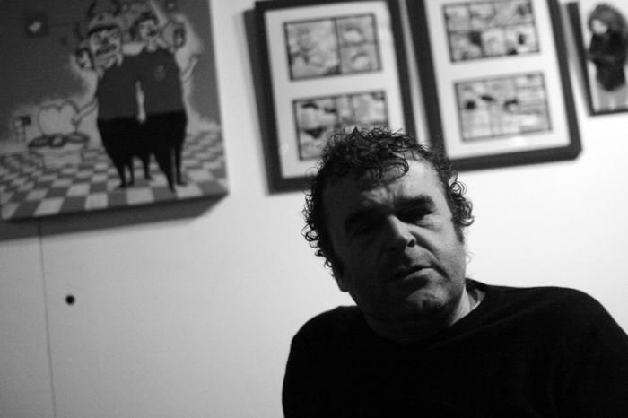 Pippo Delbono, portrait, theâtre, theater, photo dominique houcmant, goldo graphisme