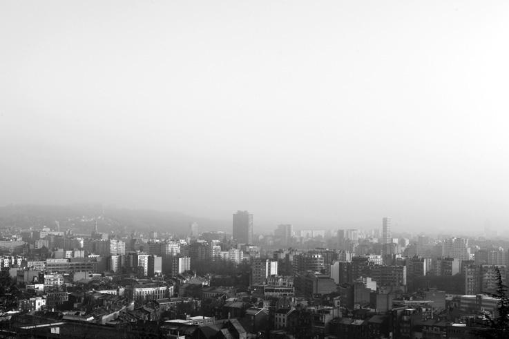 panorama de Liège, brume, myst, Liege city, © photo dominique houcmant