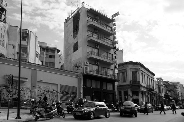 Pella Inn Hotel, Athènes, Grèce, Athens, Greece, Ermou, rue, Street, © photo dominique houcmant