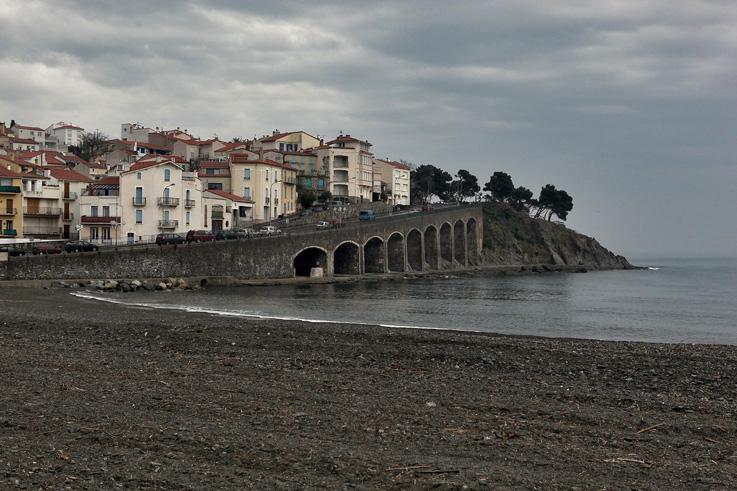 baie de Banyuls-sur-Mer, paysage, Côte Vermeille, France, arcades, photo dominique houcmant, goldo graphisme