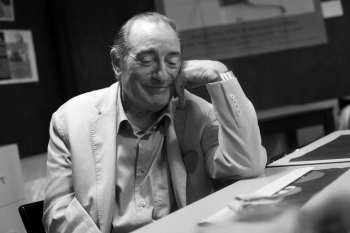Pierre Etaix, cinéma, réalisateur, acteur, clown, portrait, Liège, photo dominique houcmant, goldo graphisme