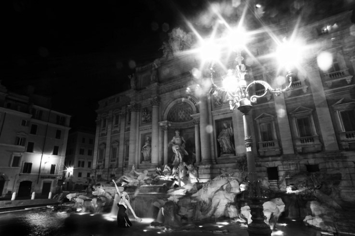Fontana di Trevi, Roma Italia, fountain, fontaine, nuit, night, notte, photo dominique houcmant, goldo graphisme