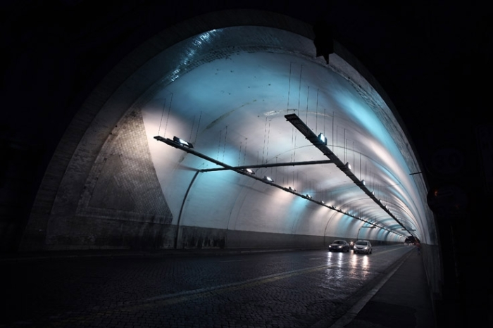 Traforo Umberto I, Roma Italia, tunnel, Rome, photo dominique houcmant, goldo graphisme
