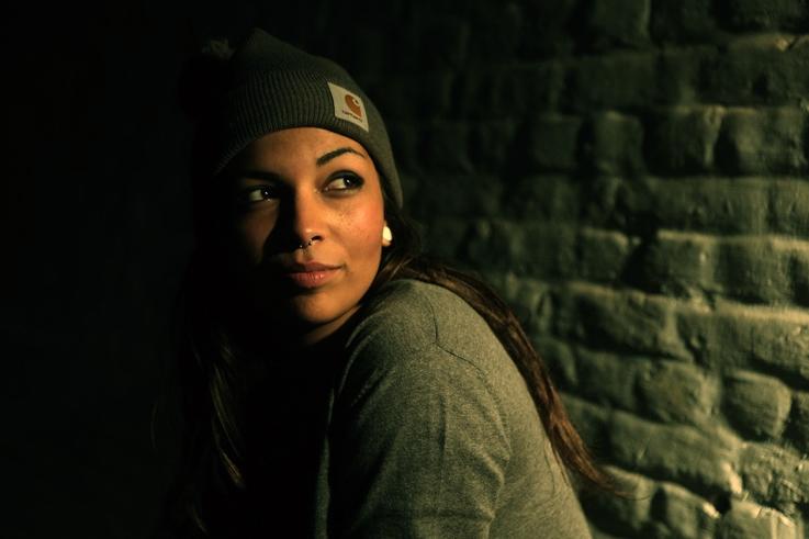 portrait, Divine MC, Ludivine Carrillo Carrandi, hip hop, caserne fonck, Liège, les heures inD, concert, © photo dominique houcmant