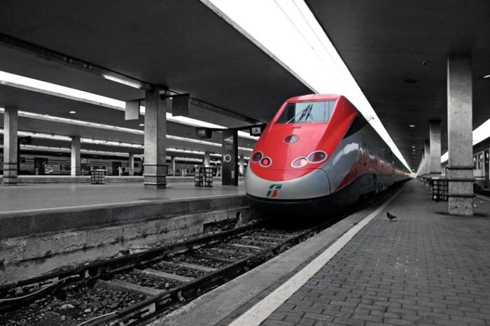 Frecciarossa, ETR 500, Elettro Treno Rapido, Trenitalia, Firenze, train, Italia, Florence, Italie, Italy, © photo dominique houcmant