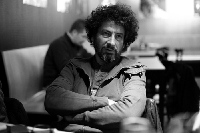 portrait, Radu Mihaileanu, cinema sauvenière liège, réalisateur, photo dominique houcmant, goldo graphisme