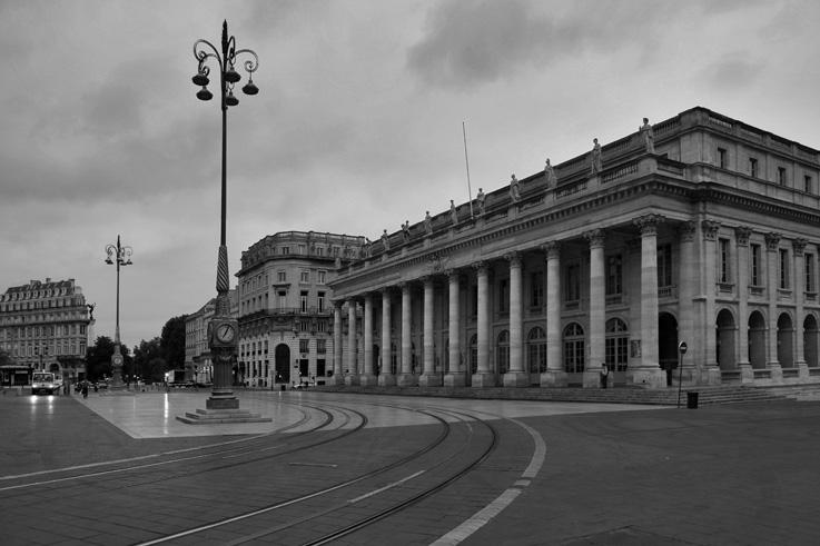 Le Grand Théâtre de Bordeaux, Place de la Comédie, photo dominique houcmant, goldo graphisme