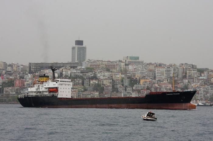 Contaz Trader, cargo, porte-conteneurs, bosphore, Istanbul Turquie, container ship, bosphorus, Istanbul, Turkey, photo dominique houcmant, goldo graphisme