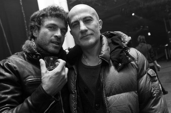 portrait Philippe Cerboneschi Zdar and Hubert Blanc-Francart Boom Bass, electro house DJ, La Funk Mob, French Touch, les transardentes 2012, Liège, © photo dominique houcmant