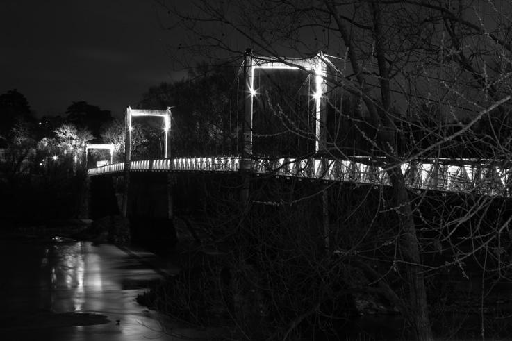 passerelle Saint-Symphorien, Tours, loire, pont, bridge, footbridge, photo de nuit, nightshot, © photo dominique houcmant