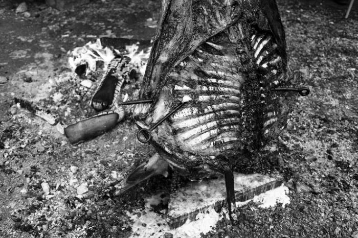 Asado de cordero patagónico, barbecue, mouton, lamb, © photo dominique houcmant