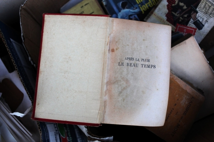 après la pluie le beau temps, proverbe, vieux livre, photo dominique houcmant, goldo graphisme
