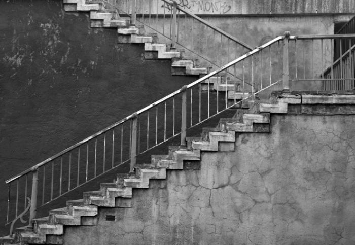 escaliers du pont sur l'Ourthe, Chênée, bridge stairs, © photo dominique houcmant
