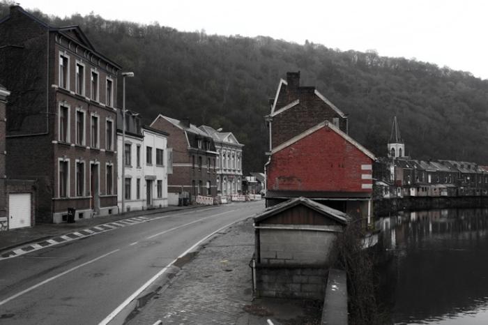 photo,chaudfontaine,avenue des thermes, la vesdre, belgique, rivière, river, photo dominique houcmant, goldo graphisme