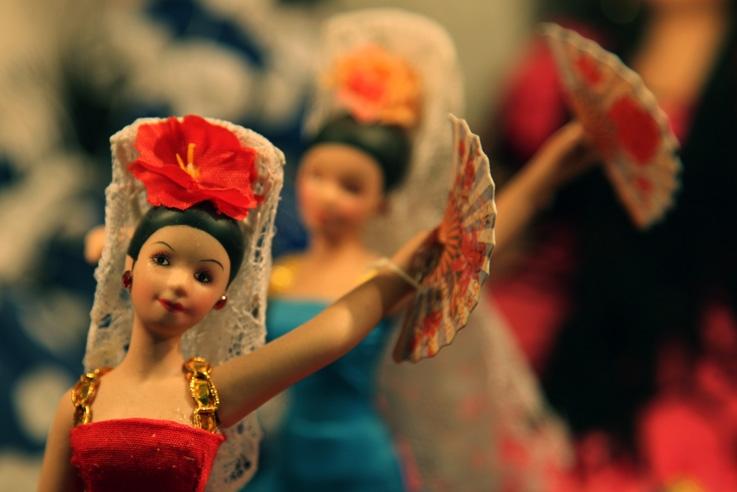 poupées flamenco, éventail, flamenco dolls, Muñecas flamencas, photo dominique houcmant, goldo graphisme
