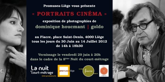exposition 'portraits cinéma' de dominique houcmant aka goldo