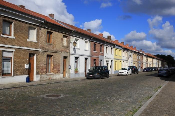 Cité ouvrière, rue Sainte Louise, Hornu (Boussu), Belgique, photo dominique houcmant, goldo graphisme