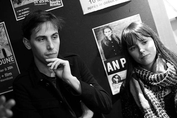 Gerard-Jan Claes & Olivia Rochette, Rain, danse, cinema le Parc liège, photo dominique houcmant, goldo graphisme