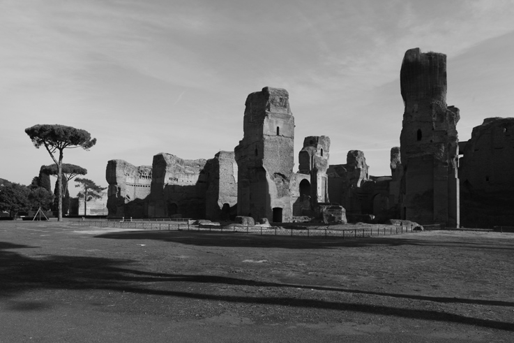 Terme di Caracalla, roma italia, Thermes de Caracalla, Rome Italie, Baths of Caracalla, photo dominique houcmant, goldo graphisme