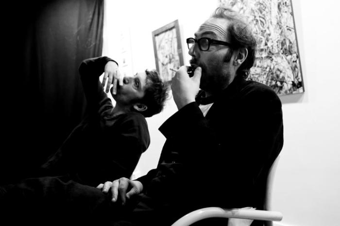 portrait Édouard Deluc et Philippe Rebbot, Mariage à mendoza, cinema le Parc liège, photo dominique houcmant, goldo graphisme