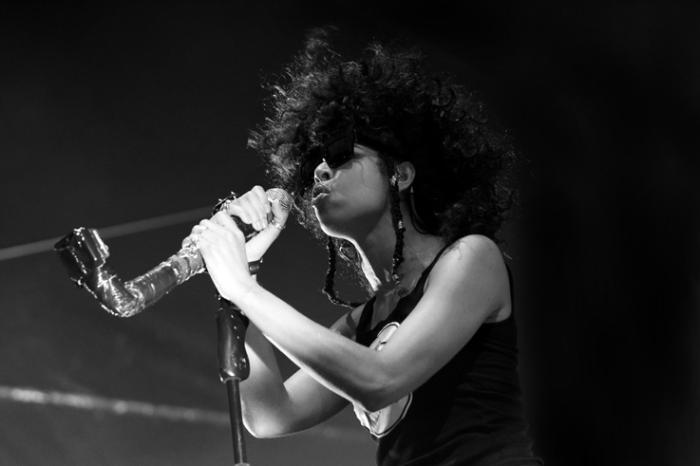 Shaka Ponk, Samaha Sam, chanteuse, chant, electro, rock, live, concert, francofolies de Spa, Belgique, photo dominique houcmant, goldo graphisme
