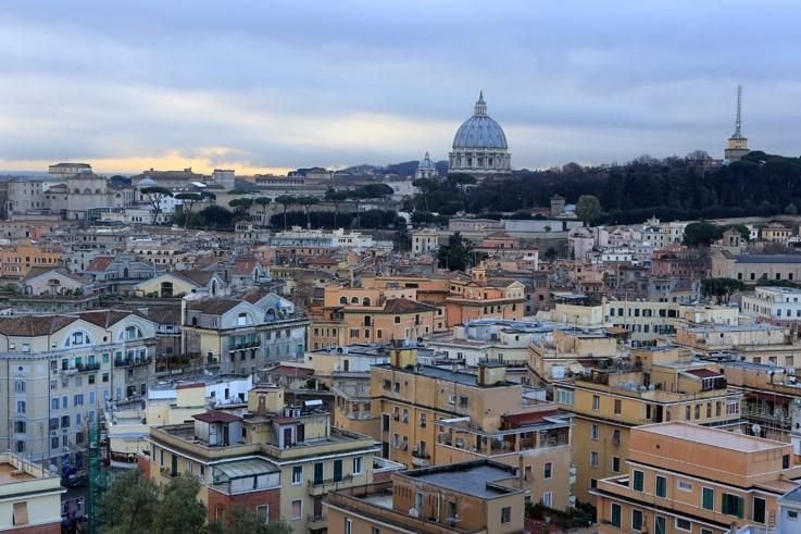 Città del Vaticano, panorama, vue, cité du Vatican, antenne, roma, rome, italie, italia, italy, photo dominique houcmant, goldo graphisme