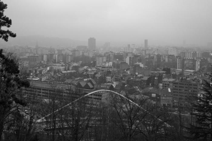 panorama de la ville de Liège, Belgique, depuis le point de vue du boulevard Kleyer, photo dominique houcmant, goldo graphisme