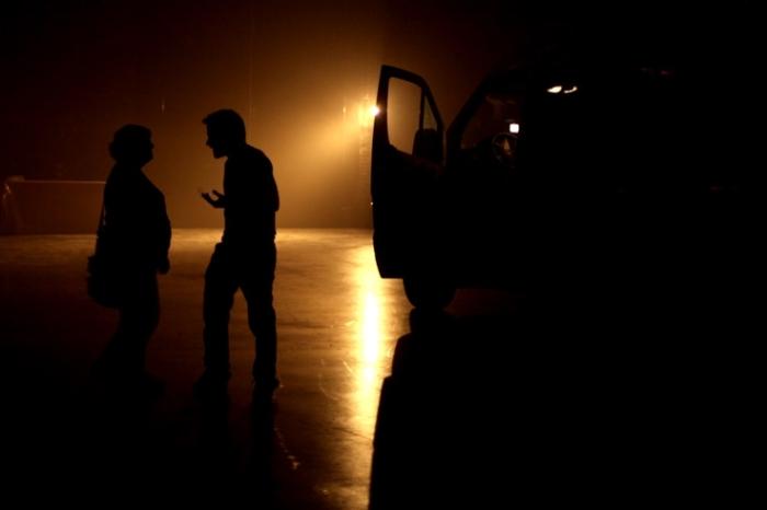 dispute couple, homme femme en contrejour, night quarrel, man and woman, © photo dominique houcmant
