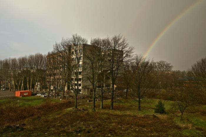 arc en ciel, institut Helmo gramme, photo dominique houcmant, goldo graphisme