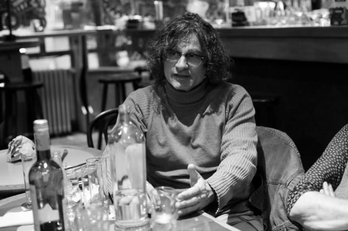 portrait Ziad Doueiri,  زياد دويري , réalisateur, L'attentat, cinema le Parc liège, photo dominique houcmant, goldo graphisme
