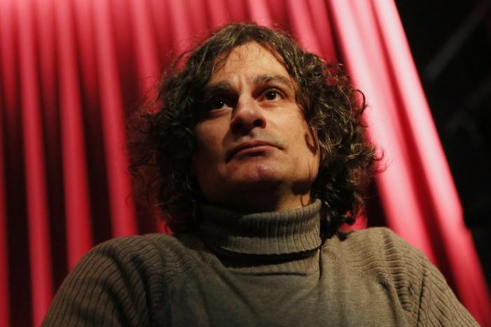 portrait Ziad Doueiri, réalisateur, L'attentat, cinema le Parc liège, photo dominique houcmant, goldo graphisme