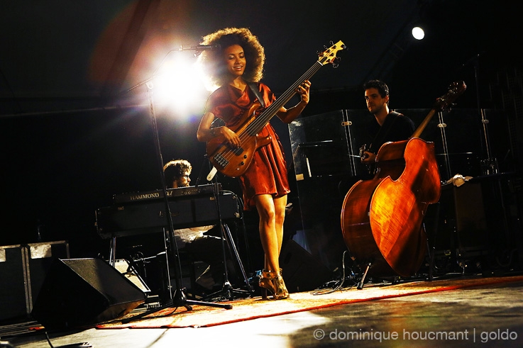 Esperanza Spalding, Radio Music Society Tour, live, concert, music, Comblain Jazz Festival, 2013, portrait, foto, photo dominique houcmant, goldo graphisme