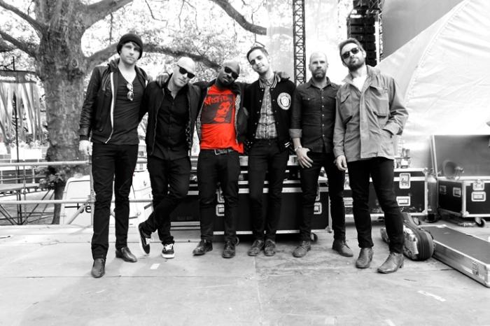 Band portrait The Heavy, Spencer Page, Kelvin Swaby, Chris Ellul, Dan Taylor, les ardentes festival, liège, singer, © photo dominique houcmant