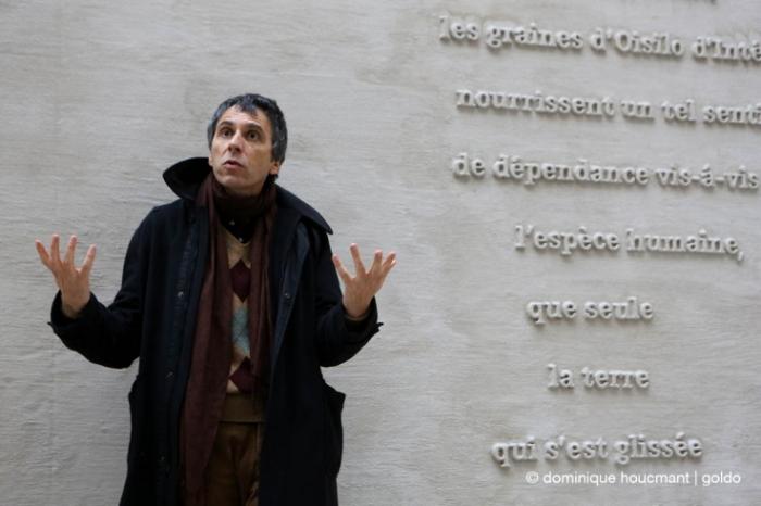 Patrick Corillon, artiste, plasticien, lauréat du Prix triennal Ianchelevici d'intégration de sculpture monumentale à l'urbanisme 2014, théatre de Liège © photo dominique houcmant