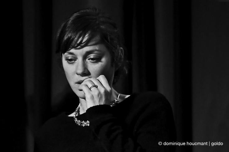 portrait, Marion Cotillard, actrice, actress, cinéma, cinéma le parc, Liège, les grignoux, photo dominique houcmant, goldo graphisme