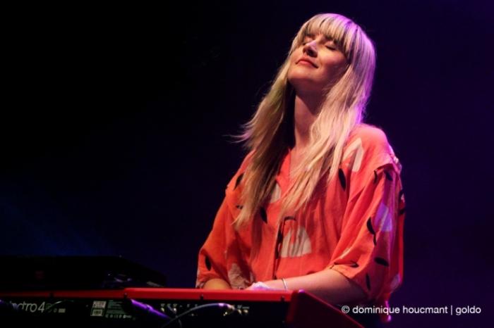 Au Revoir Simone, Erika Forster, singer, electro-pop, les ardentes festival, liège, live, concert, 2014, © photo dominique houcmant