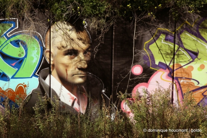 photo portrait Robert De Niro, Taxi driver, graffiti,  © photo dominique houcmant