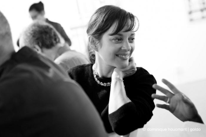 portrait, Marion Cotillard, actrice, french actress, cinéma le Parc, Liège, les grignoux, photo dominique houcmant | goldo graphisme