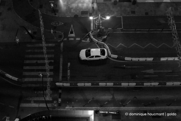photo taxi, calle Molina Lario, malaga spain, AC Hotel Malaga Palacio by Marriott, street, rue, nocturne, nuit, night, © photo dominique houcmant