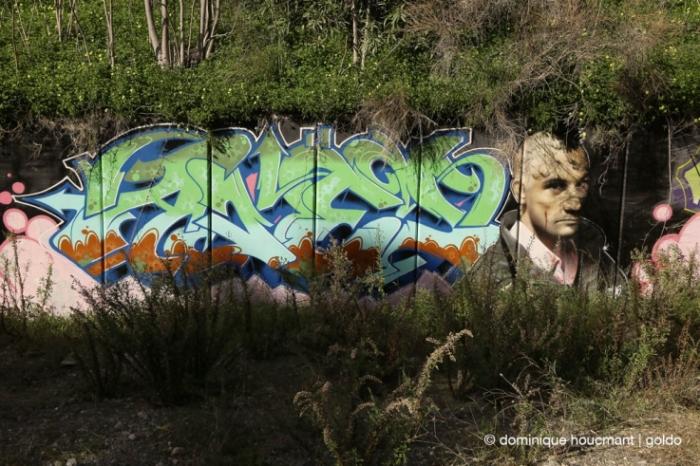photo portrait Robert De Niro, Taxi driver, Martin Scorsese, graffiti, mur, wall, street art, © photo dominique houcmant