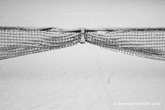 photo filet de tennis, neige, hiver, tennis net, winter time, snow, © photo dominique houcmant