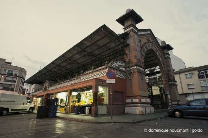Mercado Municipal de Salamanca en Málaga, España, Spain, Espagne, marché couvert, Market hall, covered market, photo dominique houcmant, goldo graphisme